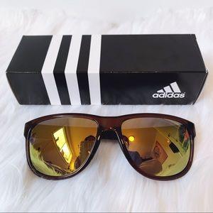 "NIB ADIDAS ""Sprung"" Sunglasses Brown Shiny Gold"